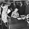 HM Queen Mother at the formal opening of the new library in the Lionel Robbins Building, 10th July 1979