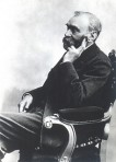 Alfred Nobel looking like hes remembering something