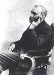 Alfred Nobel looking like hes remembering something