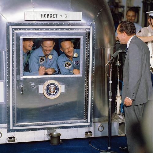 Nixon Welcomes the Apollo Astronauts