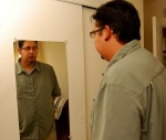 Reflections of myself - 022_365 by Flickr user Adam Jarmon Brown