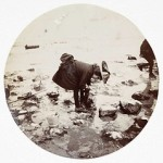 Girl looking in a rock pool, about 1890. Collection of National Media Museum/Kodak Museum