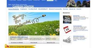 SJSU career center homepage