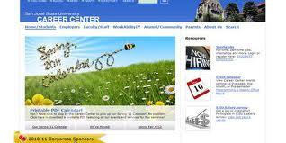 SJSU career center homepage