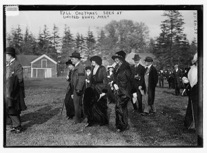 Fall costumes seen at United Hunts Meet (LOC)