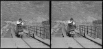 Rabbit hunting on the Otago Central Railway, ca 1900