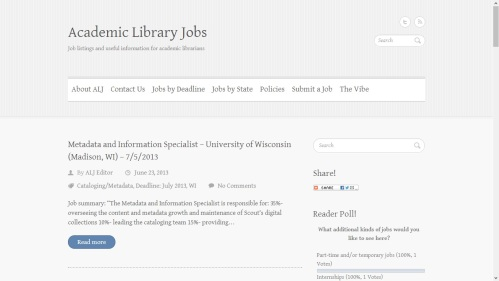 Academic Library Jobs