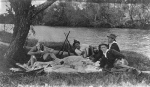 Picnic lunch on a hunting party, Queensland, ca. 1912