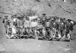 The hunt for the Governor gang of bushrangers. A posse of mounted police, aboriginal trackers and district volunteers.