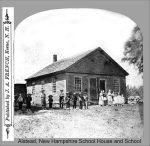 Alstead School House and Students, Alstead, New Hampshire