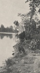 Ben Thompson Fishing Along the Scioto River, 1918