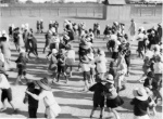 School children learning to dance, Longreach, Queensland, ca. 1928