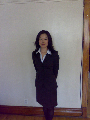 hiromi dressed up for her interview by flickr user nata2 - How To Dress For An Interview Dress Code Factor