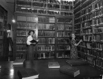 Interior of Townsville library, ca. 1948