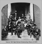 Keene High School (old) Graduating Class of 1875, Keene, New Hampshire