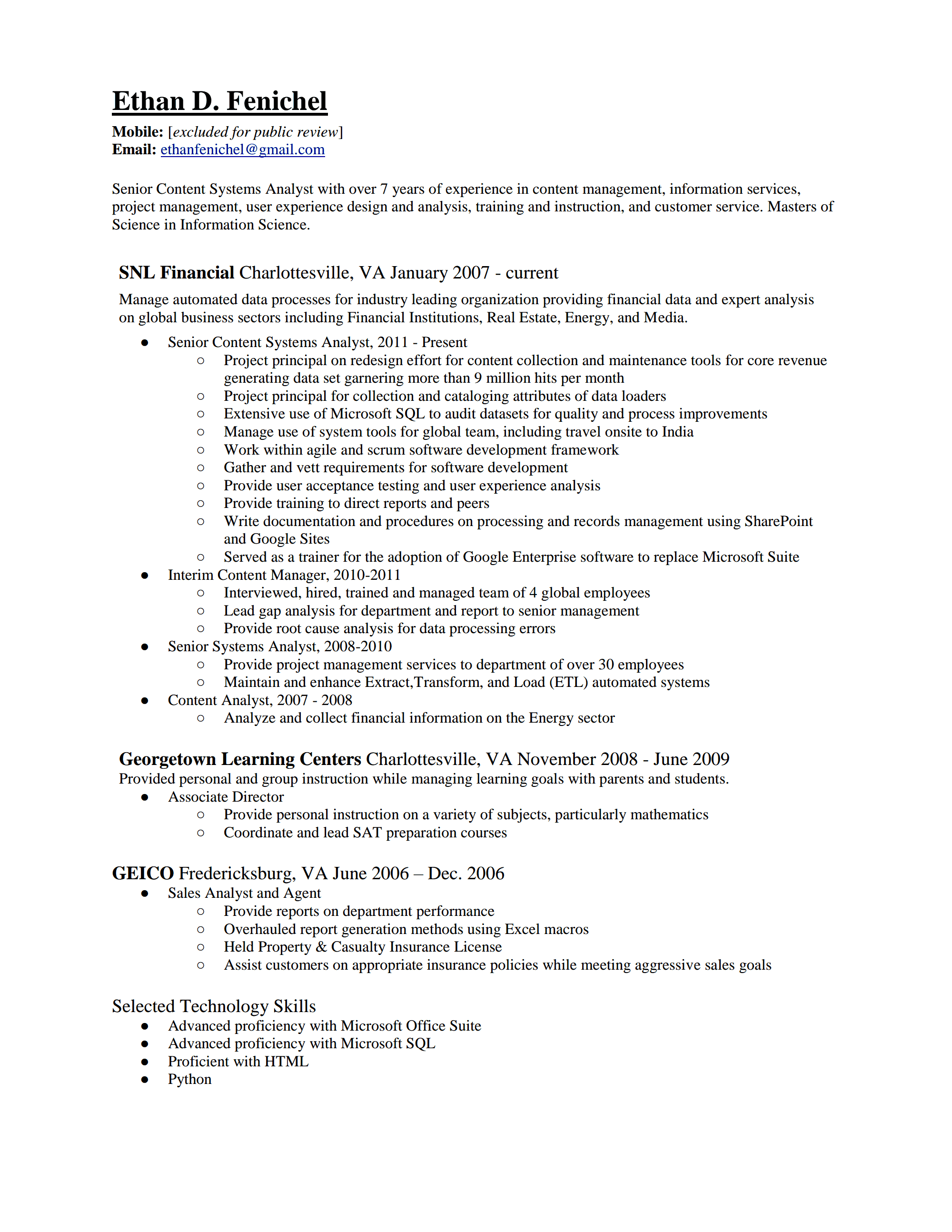Ethan Fenichel P1  Review My Resume