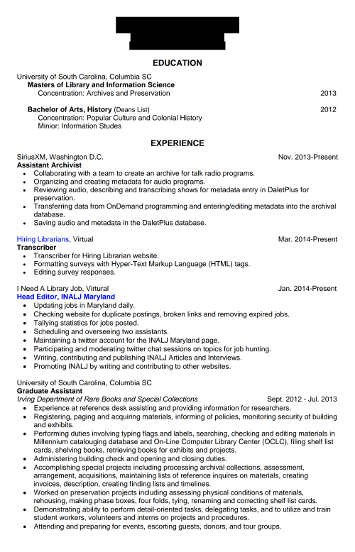 Hiring Lib Resume 1 page 1