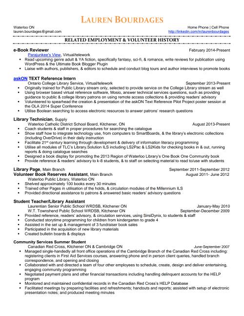 LaurenBourdages-Resume-Page 1