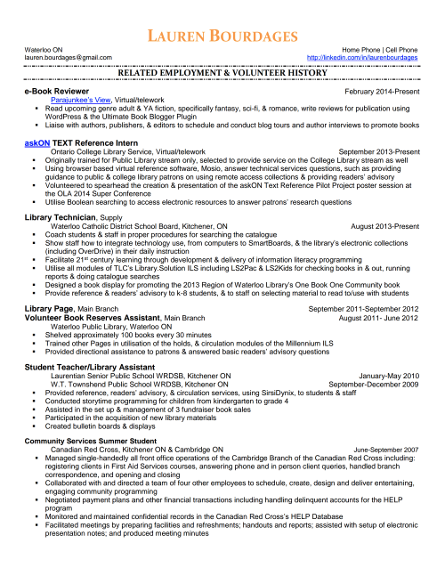 LaurenBourdages-Resume-Page 1