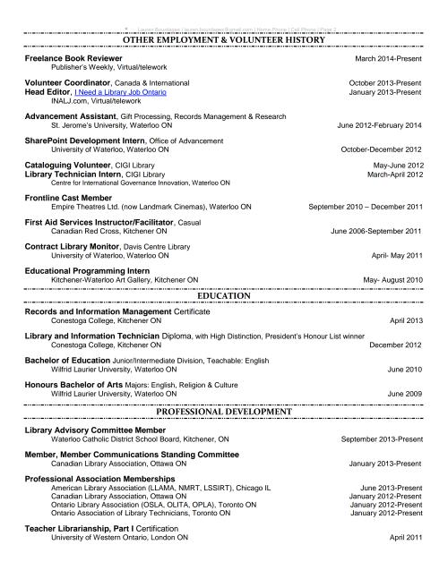 LaurenBourdages-Resume-Page 2