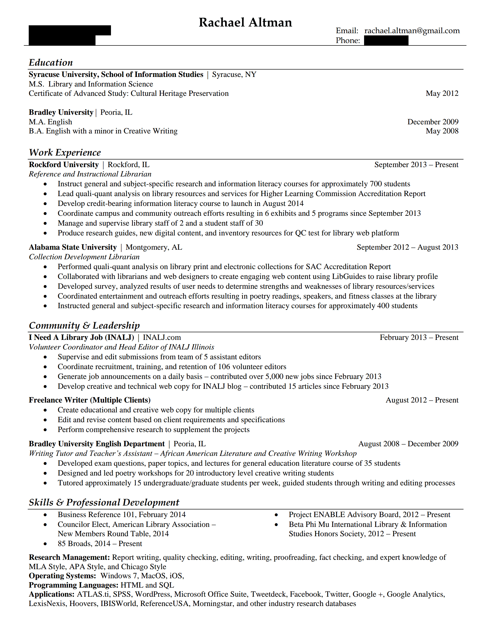 other organization or library type hiring librarians rachaelaltman resume1