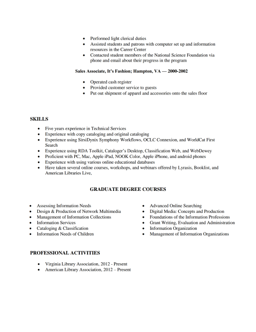 Stephanie Santiful Resume page 2