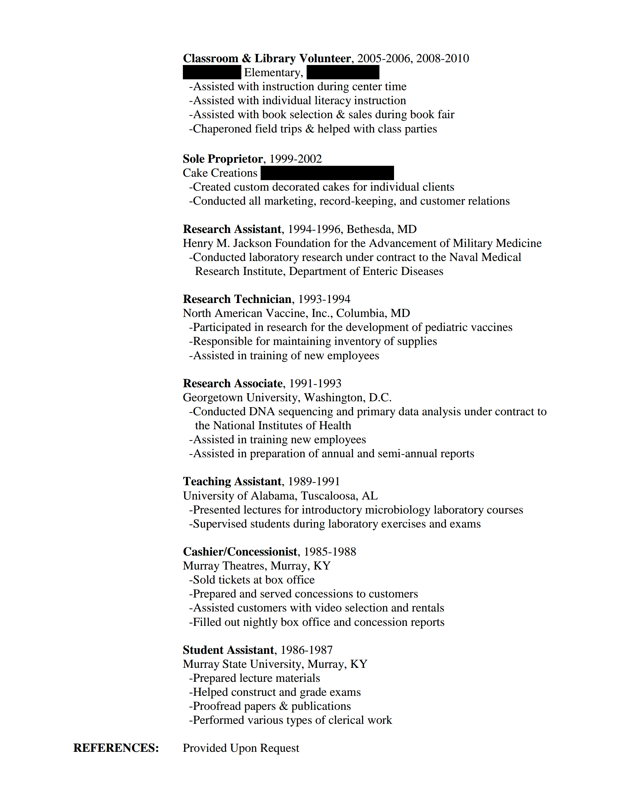 Stay At Home Mom Sample Resume Delightful Writing