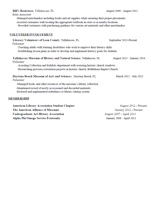 cover letter for museum