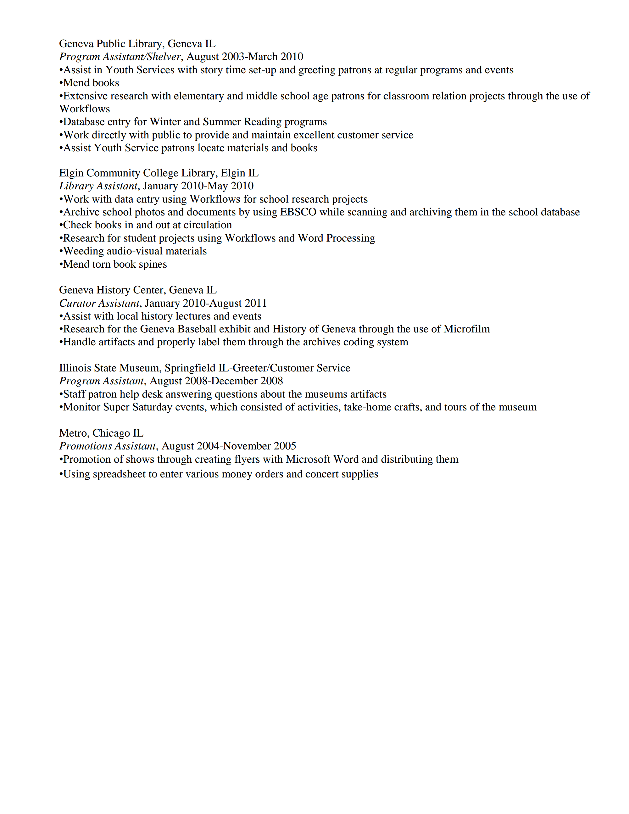 for public review matthew johnson - Sample School Librarian Resume