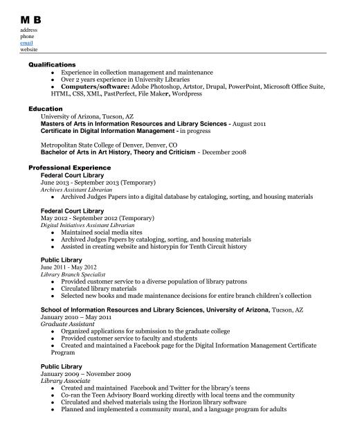Resume MB