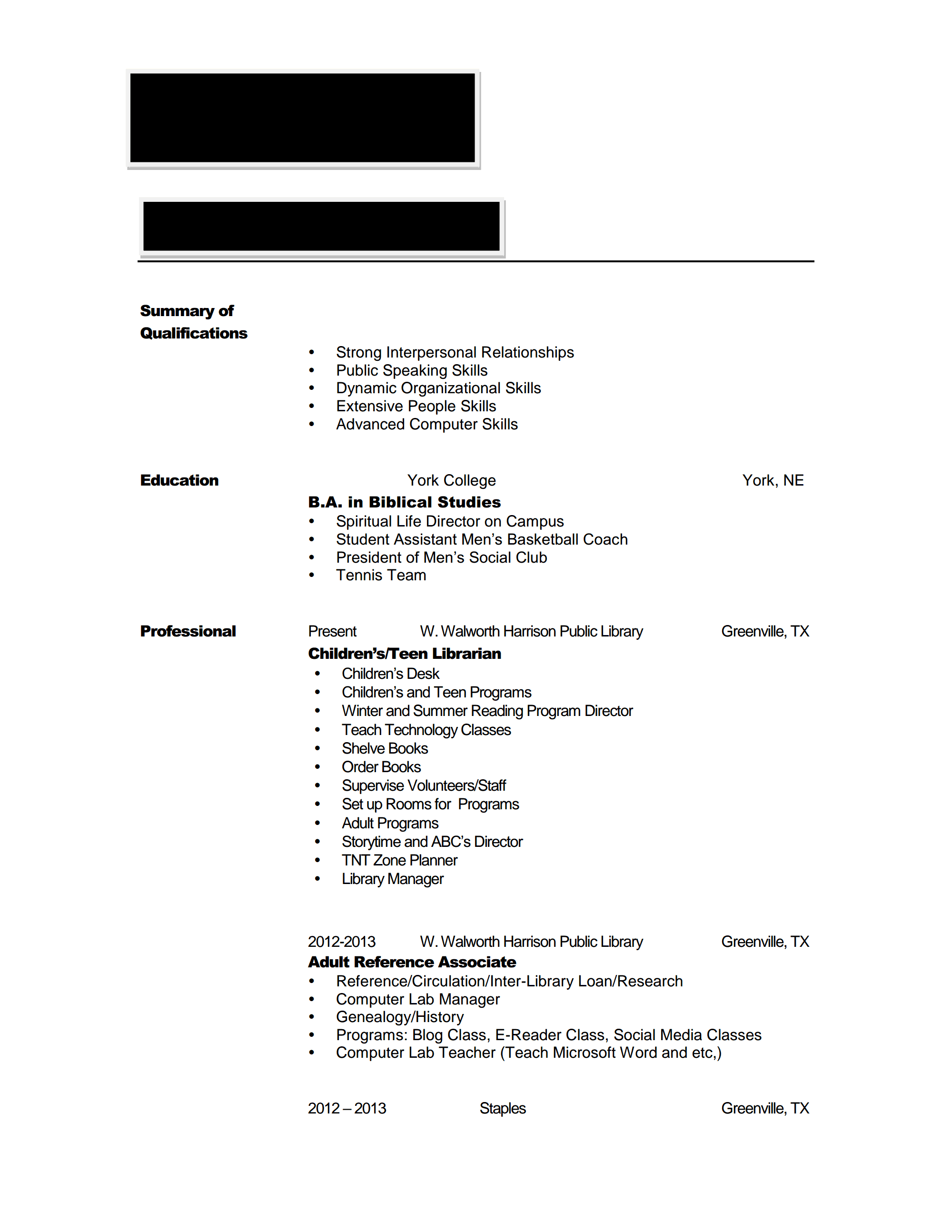 reviewing resumes for hiring