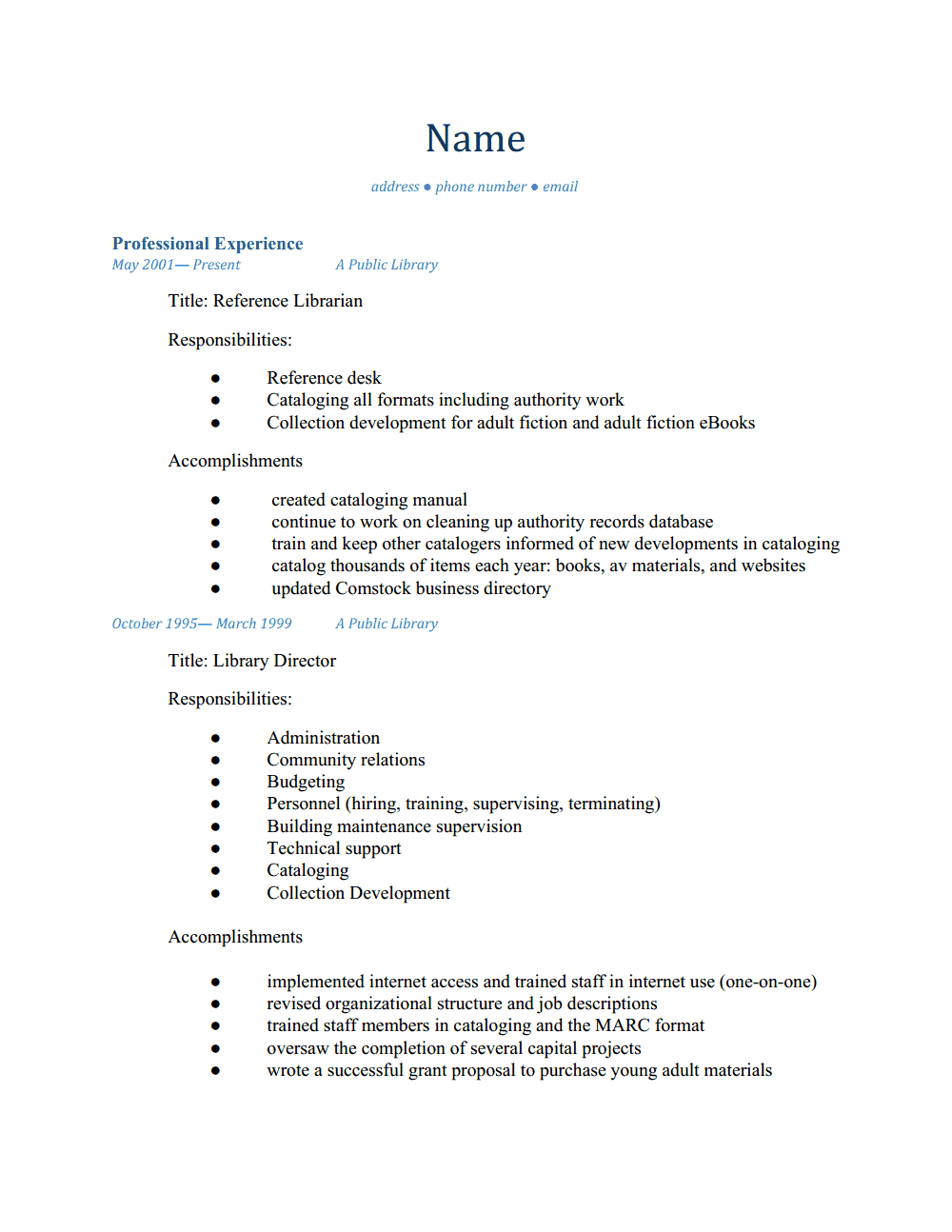 how does a resume looks like