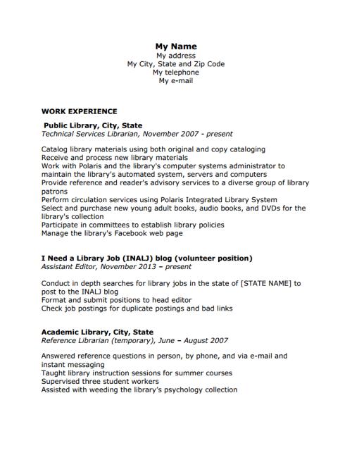 page job resume