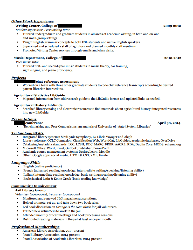 how to include part time bcit courses in resume