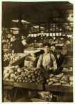 Fruit Venders, Indianapolis Market, aug., 1908. Wit., E N Clopper. Location Indianapolis, Indiana.