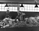 Vegetable and flower seller and stall, Pike Place Market, Seattle, Washington