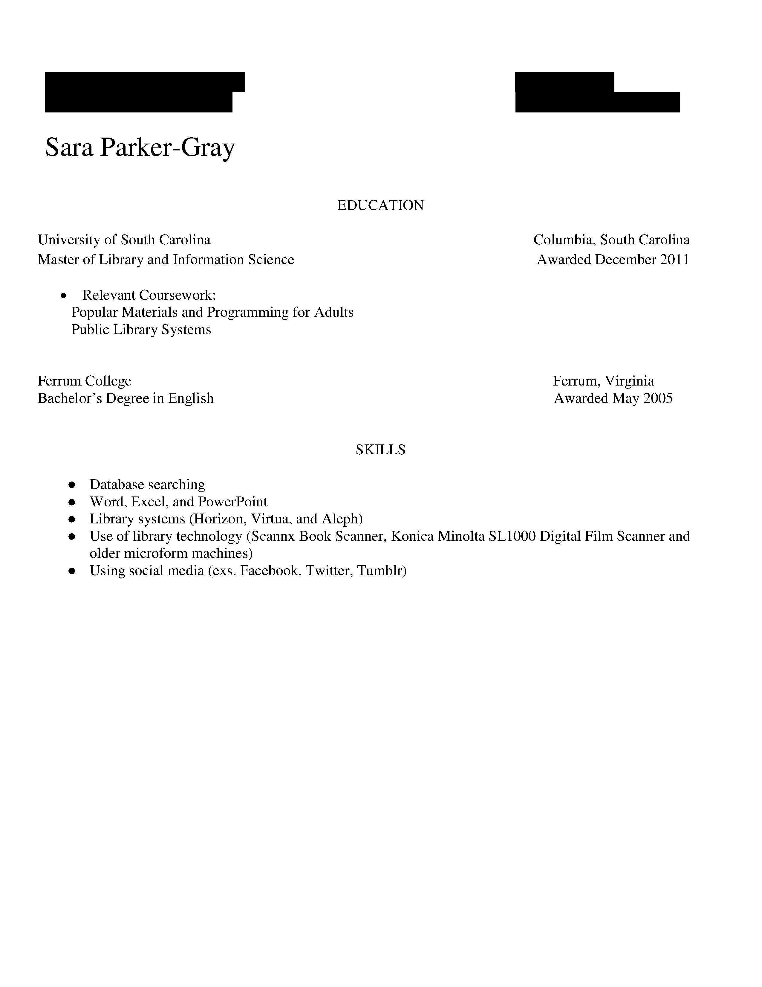... Resume For Public Review   May 2015 2 (2)  Review My Resume